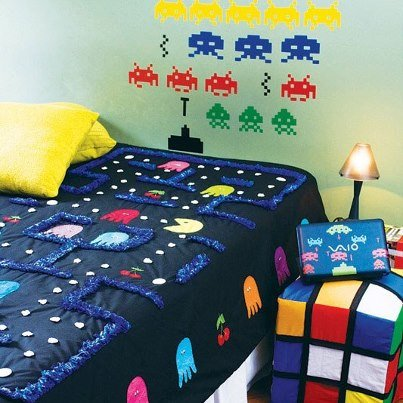 retro game themed bedroom welcome to the intellivision